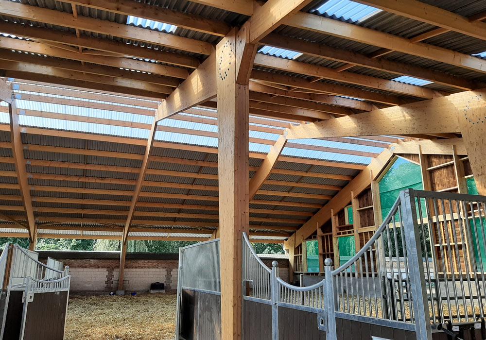 Bâtiment bois équestre